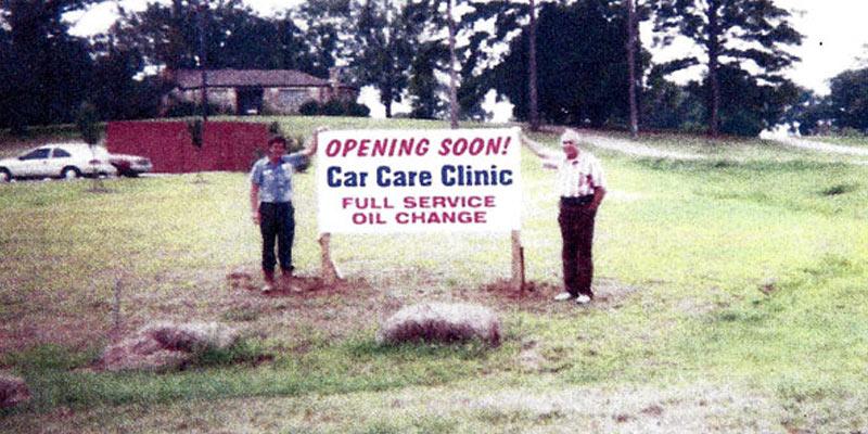 Car Care Clinic Groundbreaking on Brandon Location, 1996