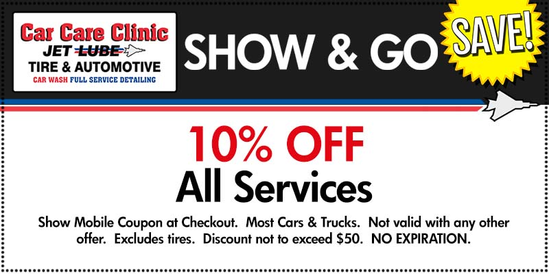 Car Care Clinic Savings Show & Go Coupon