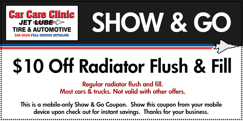 $10 Off Radiator Flush Fill