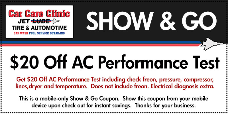 $20 Off AC Performance Test
